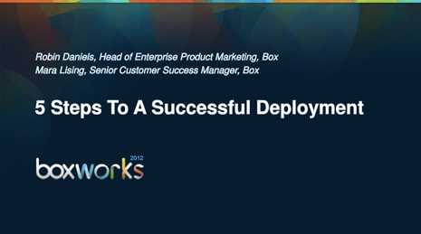 5 Steps to a Successful Deployment